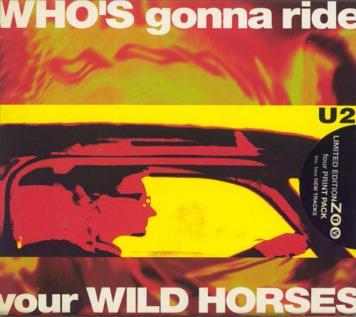 "U2 Who's Gonna Ride Your Wild Horses + prints UK CD single (CD5 / 5"") (11356)"
