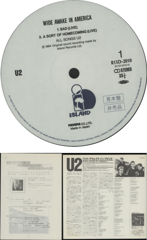 U2 Wide Awake In America + Press Release + Obi Japanese Promo 12