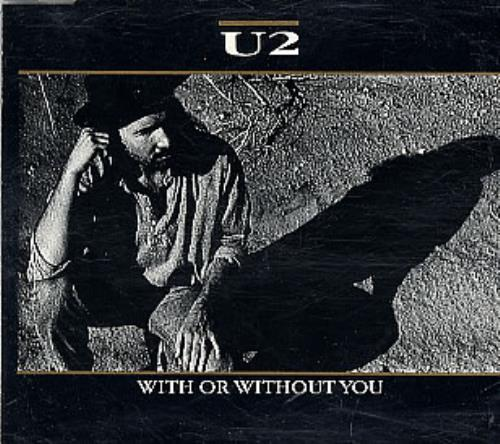 "U2 With Or Without You CD single (CD5 / 5"") Austrian U-2C5WI160271"