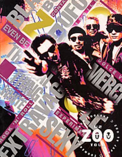 U2 Zoo TV Tour tour programme Japanese U-2TRZO224579