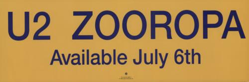 U2 Zooropa poster US U-2POZO618103