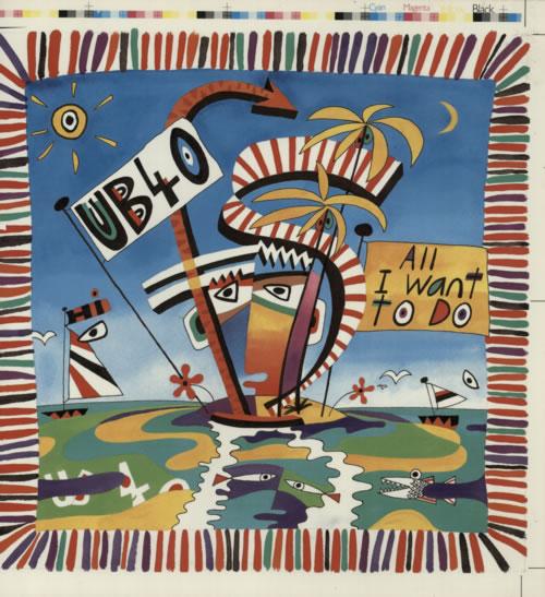 UB40 All I Want To Do artwork UK UB4ARAL589754