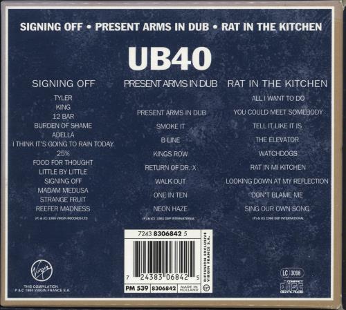 UB40 Coffret 3 Compact Discs box set Dutch UB4BXCO690982
