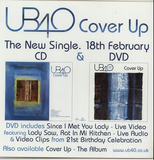 UB40 Cover Up display UK UB4DICO632190