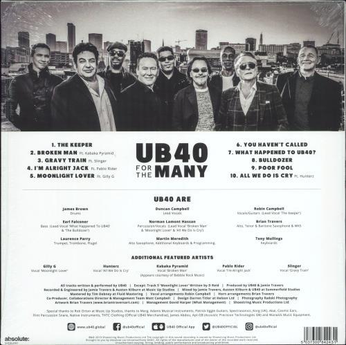 UB40 For The Many - Sealed vinyl LP album (LP record) UK UB4LPFO772505