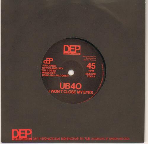 """UB40 I Won't Close My Eyes 7"""" vinyl single (7 inch record) UK UB407IW643717"""