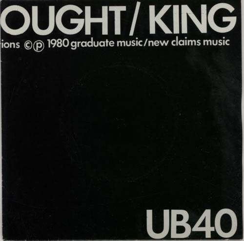 """UB40 King - 2nd 7"""" vinyl single (7 inch record) UK UB407KI592640"""