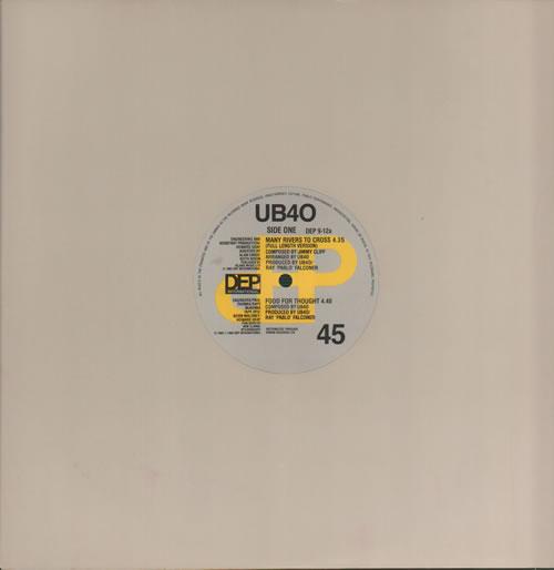 """UB40 Many Rivers To Cross 12"""" vinyl single (12 inch record / Maxi-single) UK UB412MA635061"""