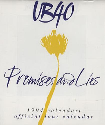 UB40 Promises And Lies + Calendar CD album (CDLP) UK UB4CDPR26047