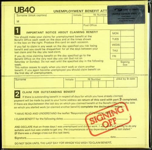 UB40 Signing Off - 180gm UK vinyl LP album (LP record) (522005)