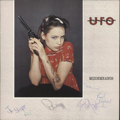 UFO Misdemeanor - autographed vinyl LP album (LP record) UK UFOLPMI729663