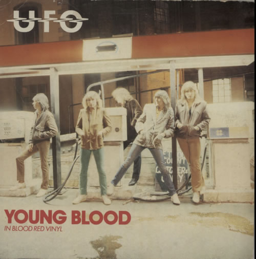 "UFO Young Blood - Red + P/S 7"" vinyl single (7 inch record) UK UFO07YO606540"