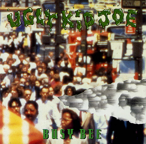 "Ugly Kid Joe Busy Bee - Yellow Vinyl 7"" vinyl single (7 inch record) UK UKJ07BU588899"
