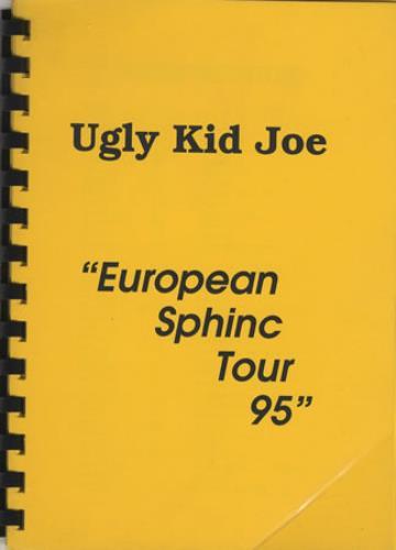 Ugly Kid Joe European Sphinc Tour 95 Itinerary UK UKJBKEU404321