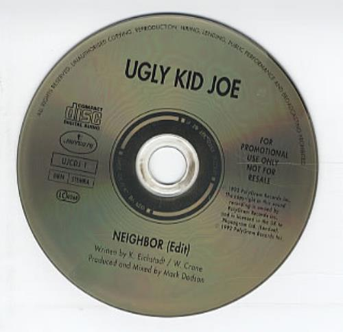 "Ugly Kid Joe Neighbor CD single (CD5 / 5"") UK UKJC5NE101814"