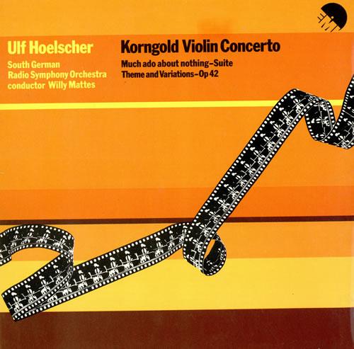 Ulf Hoelscher Korngold Violin Concerto - Sample vinyl LP album (LP record) UK ULHLPKO461844