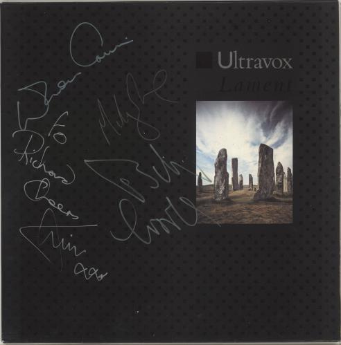 Ultravox Lament - Autographed vinyl LP album (LP record) UK VOXLPLA718823
