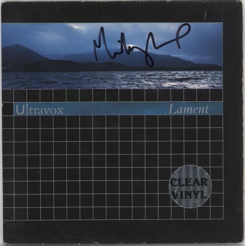 "Ultravox Lament - Clear Vinyl - Autographed 7"" vinyl single (7 inch record) UK VOX07LA722257"