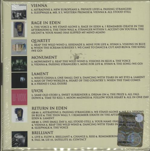 Ultravox The Albums 1980-2012 CD Album Box Set UK VOXDXTH596193
