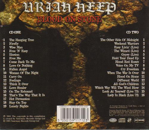 Uriah Heep Blood On Stone - Anthology Vol. 2 2 CD album set (Double CD) UK URI2CBL642676