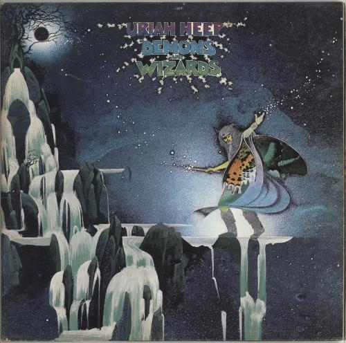 Uriah Heep Demons And Wizards - 1st + Inner - EX vinyl LP album (LP record) UK URILPDE534032