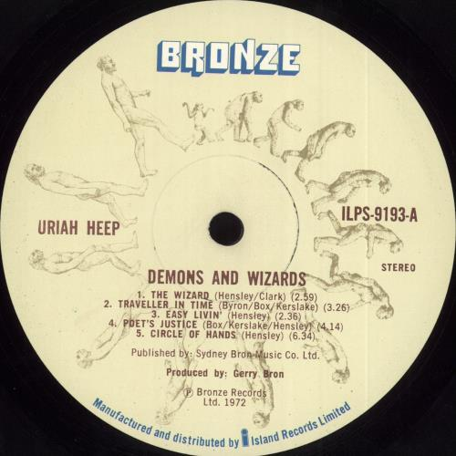 Uriah Heep Demons And Wizards - 1st + Inner - VG vinyl LP album (LP record) UK URILPDE712247