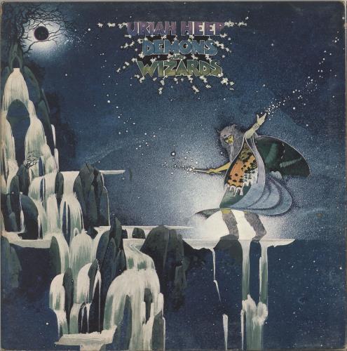 Uriah Heep Demons And Wizards - 2nd - EX vinyl LP album (LP record) UK URILPDE709514