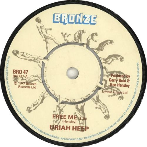 "Uriah Heep Free Me 7"" vinyl single (7 inch record) UK URI07FR704693"
