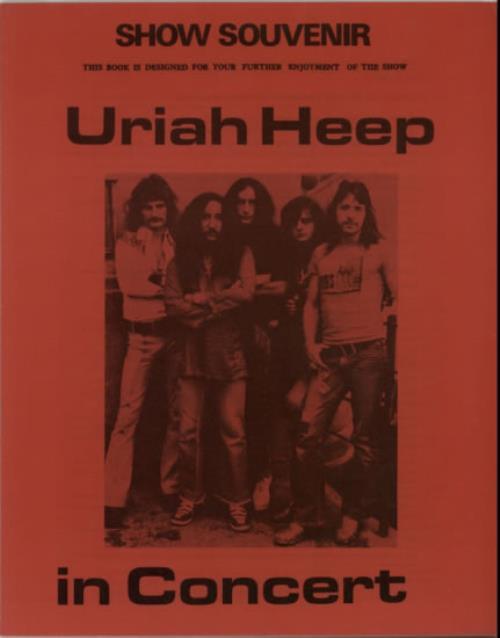 Uriah Heep In Concert - Show Souvenir tour programme UK URITRIN597576