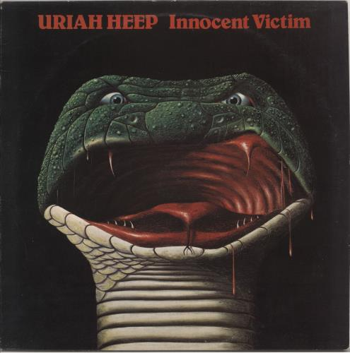 Uriah Heep Innocent Victim + Lyric Insert - EX vinyl LP album (LP record) UK URILPIN568958