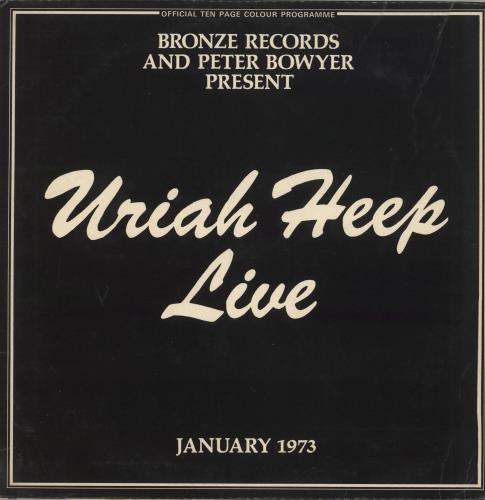 Uriah Heep Live + Inners - EX 2-LP vinyl record set (Double Album) UK URI2LLI727276