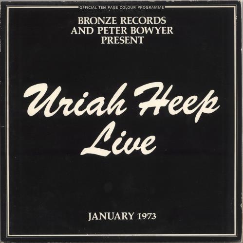 Uriah Heep Live - 1st - EX 2-LP vinyl record set (Double Album) UK URI2LLI135708