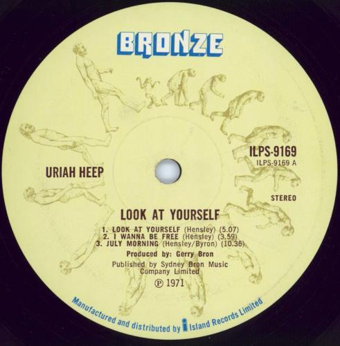 Uriah Heep Look At Yourself - 1st - G vinyl LP album (LP record) UK URILPLO771667