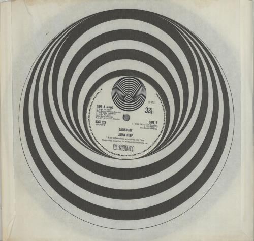 Uriah Heep Salisbury 1st Ex Uk Vinyl Lp Album Lp Record 421668