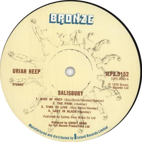 Uriah Heep Salisbury - A2U/B2U vinyl LP album (LP record) UK URILPSA391352