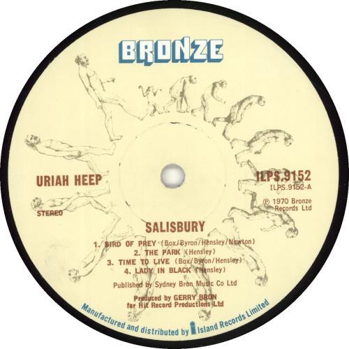 Uriah Heep Salisbury Ex Uk Vinyl Lp Album Lp Record 693989