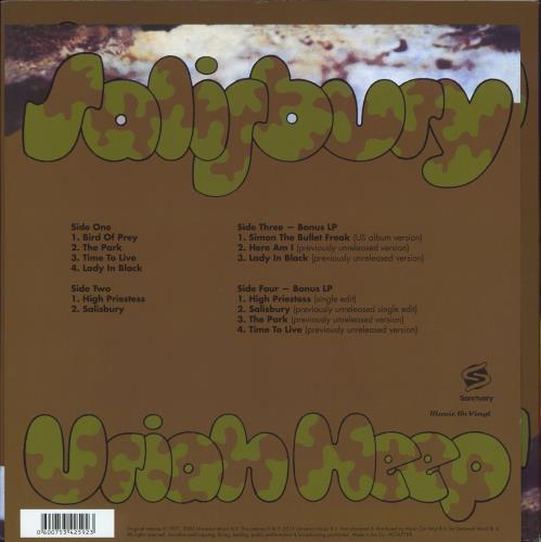 Uriah Heep Salisbury - Expanded 180g Vinyl Edition 2-LP vinyl record set (Double Album) UK URI2LSA770115
