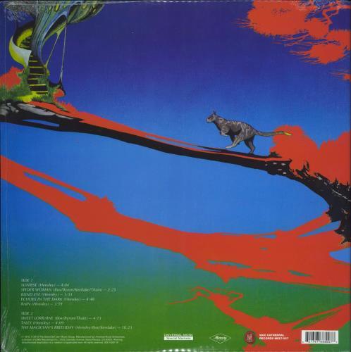 Uriah Heep The Magician's Birthday - Blue Marbled Vinyl vinyl LP album (LP record) US URILPTH770118