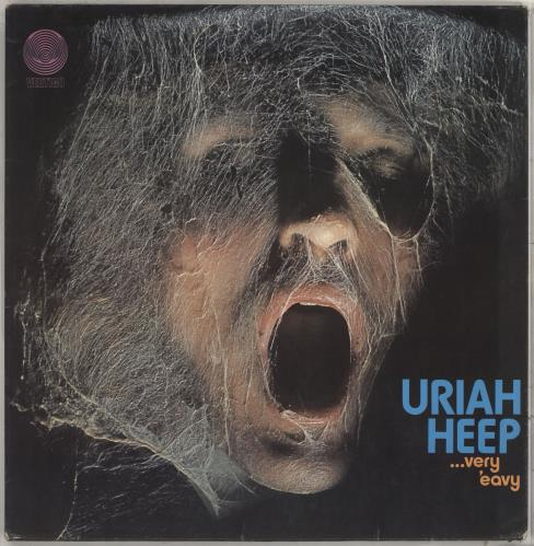 Uriah Heep Very 'eavy Very 'umble - 2nd Lrg Swirl + Song Credits - VG vinyl LP album (LP record) UK URILPVE710229