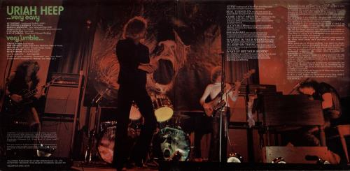 Uriah Heep Very 'eavy Very 'umble - 2nd Lrg Swirl + Song Credits vinyl LP album (LP record) UK URILPVE602615
