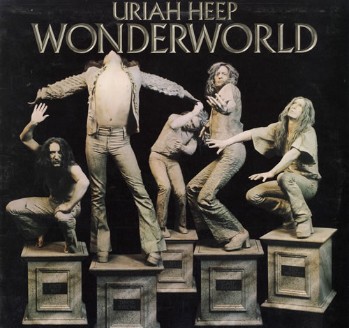 Uriah Heep Wonderworld - EX vinyl LP album (LP record) UK URILPWO559858