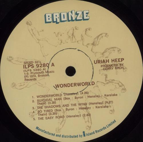 Uriah Heep Wonderworld South African Vinyl Lp Album Lp Record 679460