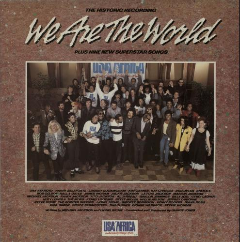USA For Africa We Are The World + Insert vinyl LP album (LP record) UK UAFLPWE643861