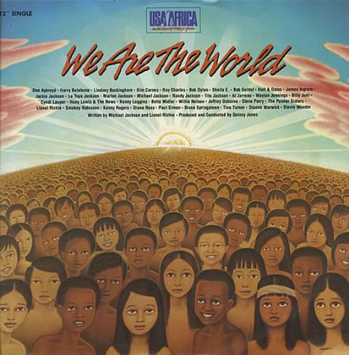 """USA For Africa We Are The World 12"""" vinyl single (12 inch record / Maxi-single) UK UAF12WE102135"""