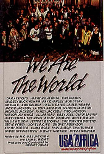 USA For Africa We Are The World cassette album Spanish UAFCLWE349241