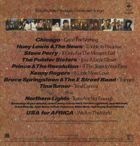 USA For Africa We Are The World vinyl LP album (LP record) UK UAFLPWE363682