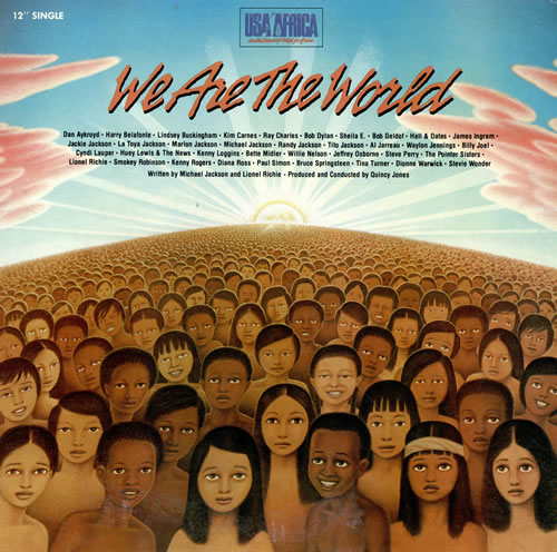 """USA For Africa We Are The World 12"""" vinyl single (12 inch record / Maxi-single) US UAF12WE476358"""