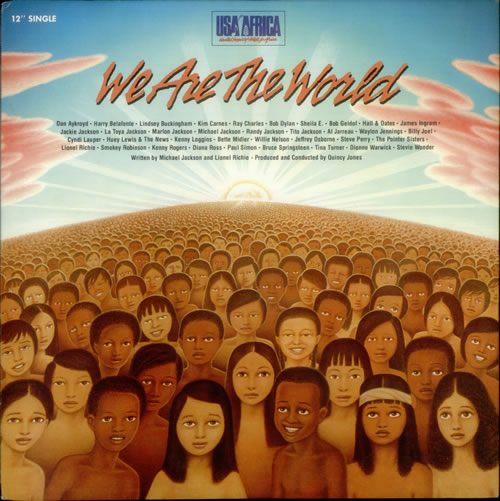 """USA For Africa We Are The World 12"""" vinyl single (12 inch record / Maxi-single) Japanese UAF12WE545345"""