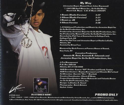 "Usher My Way CD single (CD5 / 5"") US UHEC5MY466153"