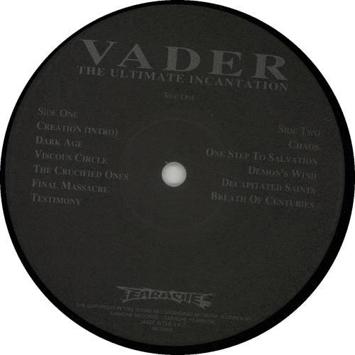 Vader The Ultimate Incantation vinyl LP album (LP record) UK W0DLPTH617152